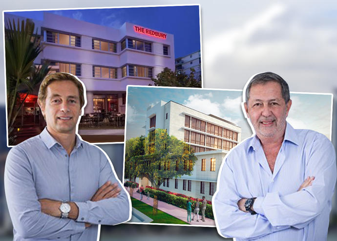Blue Road partners Jorge Savloff and Marcelo Tenenbaum, with Redbury South Beach and Hotel 18