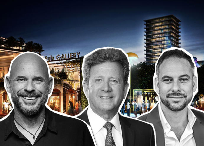 From left: Rendering of Magic City Innovation District with Guy Laliberte, Neil Fairman and Tony Cho