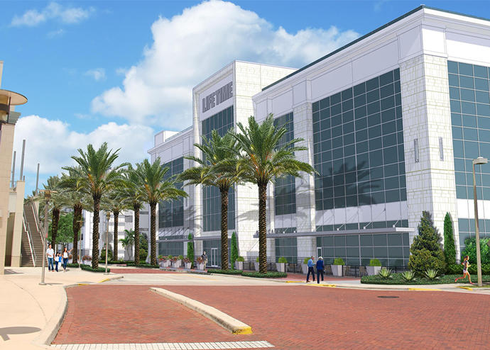 A rendering of the project (Credit: Life Time Athletic)