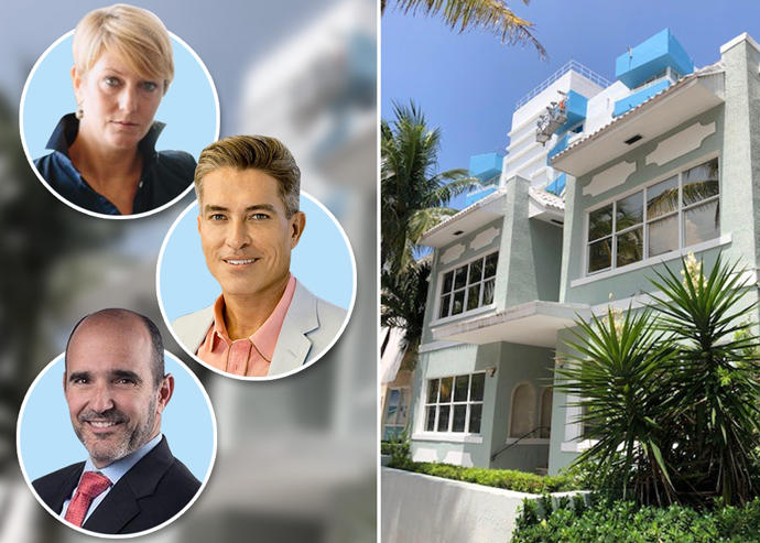 Top, down: Amanda De Seta, Roland Ortiz and Victor Olaniel with 221 Collins Avenue
