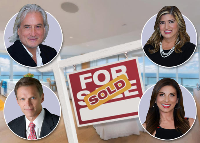 From top left, clockwise: Stephan Burke, Carol Cassis, Diana Carulla, and Mark Egan, with Continuum unit 2305S (Credit: Candito Realty Inc.)