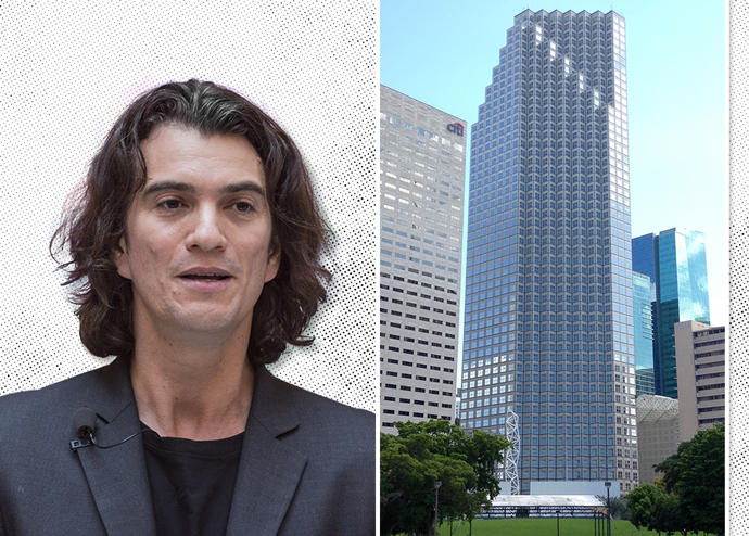 WeWork CEO Adam Neumann and the building