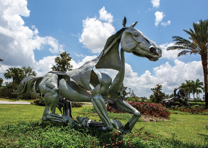 A sculpture at the Palm Beach International Equestrian Center