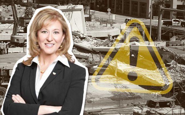 Linda Figg and the FIU bridge collapse (Credit: Getty Images)