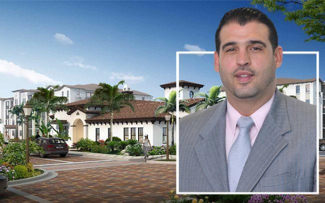 Marc Suarez, Director at Hunt Real Estate Capital and a rendering of Boardwalk 280