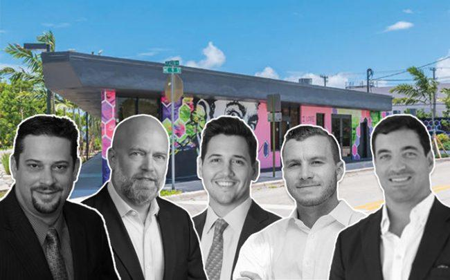 From left: Dale Reed of Merrimac Ventures, Daniel Lebensohn, the co-founder of Aventura-based BH3, Jorge Gomez-Moller of Driftwood Acquisitions & Development, Jaime Sturgis of Native Realty, and Nick Rojo of Affiliated Development