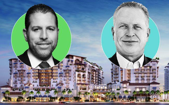 Madison Realty Capital CEO Josh Zegen, Penn-Florida Companies CEO Mark Gensheimer, and the Mandarin Oriental in Boca Raton