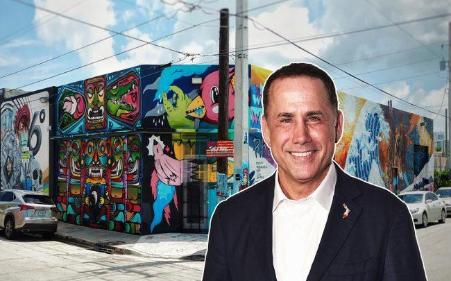 Philip Levine and the property at 2215 Northwest First Place (Credit: Getty Images)