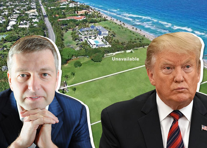 Dmitry Rybolovlev, Donald Trump, and 5252 North Country Road (Credit: Getty Images)