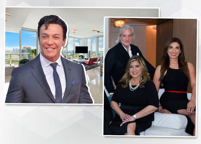 Beto Perez and Continuum North unit 2704 with Stephan Burke, Carol Cassis and Diana Carulla