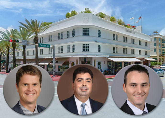 Kirk Olson, Shadi Shomar, Drew Kristol and the Bentley Hotel