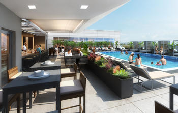 Rendering of the pool deck (Credit: DLR Group)
