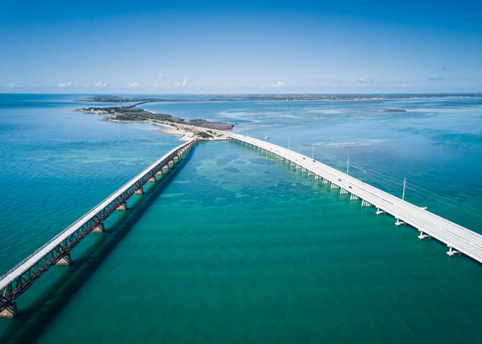 An aerial of the Florida Keys (Credit: iStock)