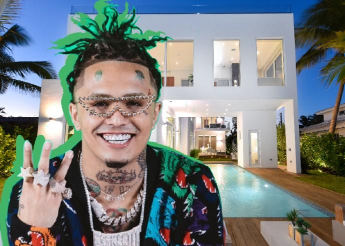 Lil Pump and his Bay Drive home (Credit: Douglas Elliman)