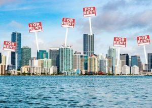 Apartment rent growth is slowing in downtown Miami (Credit: iStock)