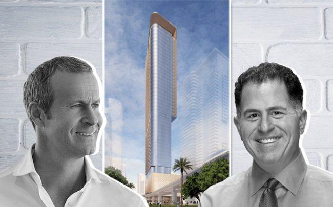 Vlad Doronin, a rendering of 830 Brickell, and Michael Dell