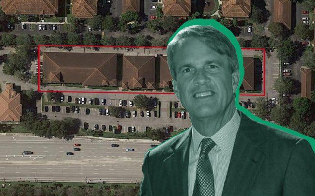 Charles Githler and 7721 North Military Trail at Woodbine Commons (Credit: Linkedin, Google Maps)