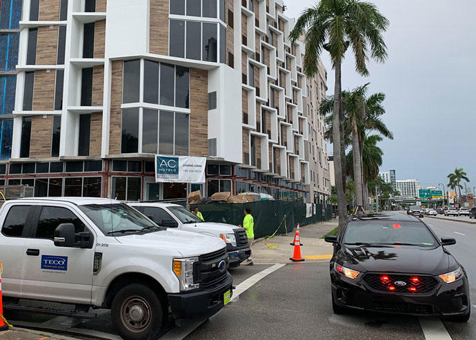 Gas leak at Edgewater construction site