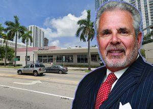 Russell Galbut and 3000 Biscayne Boulevard (Credit: Haute Living and Google Maps)