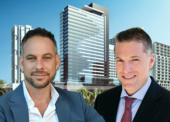 Rendering of the Brickell hotel development, Tony Cho and Robert Finvarb