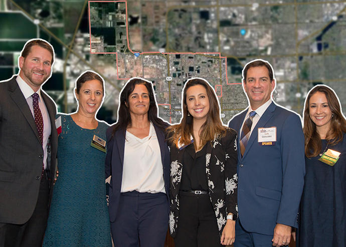 From left: Alejandro Arias, Keren Marti, Avra Jain, Carolina Herrera, Luis Gonzalez, and Melissa Rose (Credit: Brett Hufziger Photography, Google Maps)