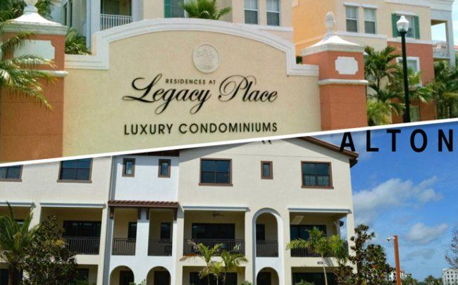 Legacy Place at 1000 Legacy Place in Palm Beach Gardens and Alton Townhomes at 8072-8110 Hobbes Way