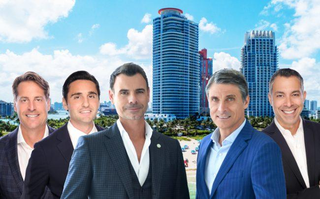 From left: Brett Harris Mick Duchon, Giorgio Vecchi, Dario Stoka, Eloy Carmenate, with Continuum Miami Beach