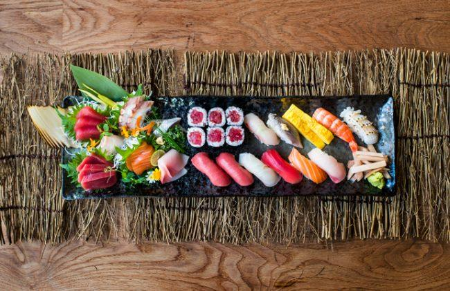 A platter from Sushi Garage