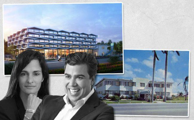 Mattoni Group president Ricardo Caporal, 5125 Biscayne Boulevard before it was demolished in July 2017, rendering of redeveloped Bayside Motor Inn site designed by Urban Robot Associates, developer Avra Jain