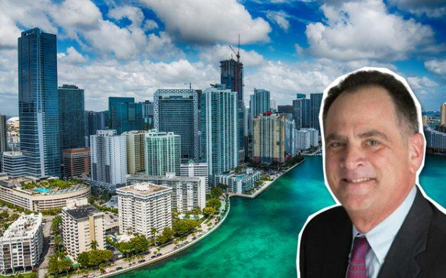 Jim Fried and the Downtown Miami skyline