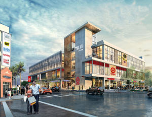 A rendering of the BLVD at Lenox retail project at 1045 Fifth Street