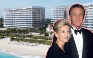 Christine Riley, Pat Riley, and the Surf Club Residences at the Four Seasons (Credit: Getty Images and Four Seasons)