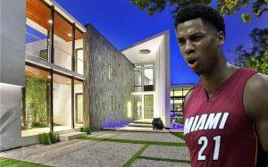 Hassan Whiteside and 528 Lakeview Court (Credit: Wikipedia, Realtor)