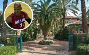 Ray Allen and 5 Tahiti Beach Island Rd (Credit: Wikipedia Commons, Realtor)