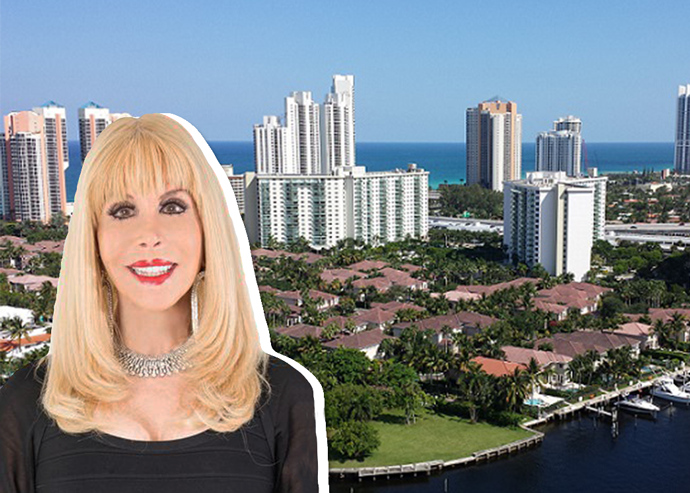 Denise Rubin with the Aventura skyline