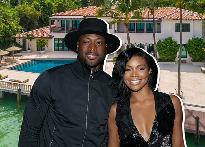Dwyane Wade, Gabrielle Union and the North Bay Road home (Credit: Getty Images, Lux Hunters)