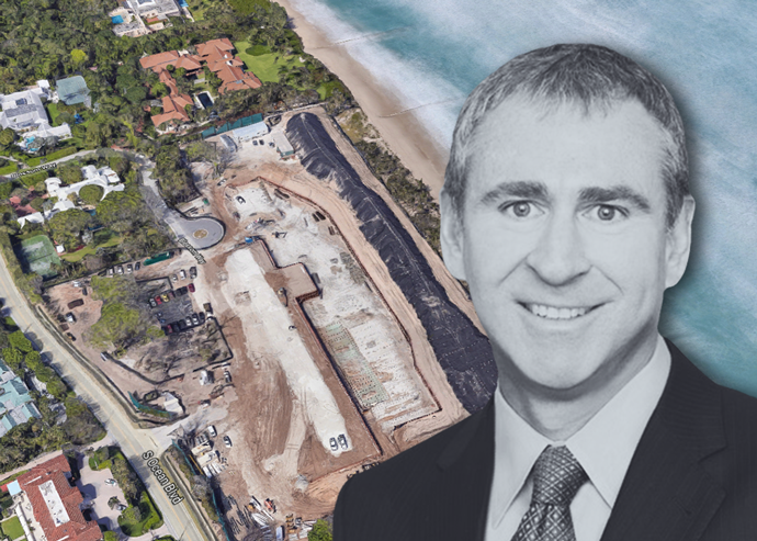 Ken Griffin over the island of Palm Beach