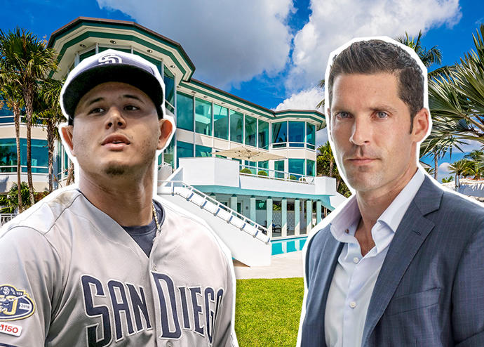 Manny Machado and Chad Carroll with 20 Tahiti Beach Island Road (Credit: Getty Images and Douglas Elliman)