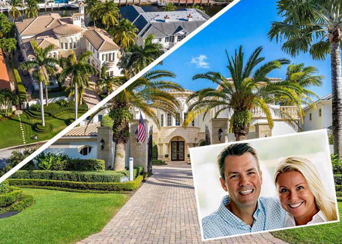 Michael and Michelle Hagerty, and their home in Royal Palm Yacht & Country Club (Credit: Keeping the Promise, Realtor)
