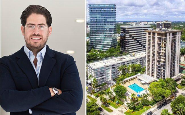 David Martin and the site at 2655 South Bayshore Drive (Credit: Realtor)