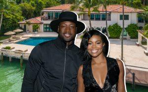 Dwyane Wade, Gabrielle Union and the North Bay Road home (Credit: Getty Images, Elliman.com)