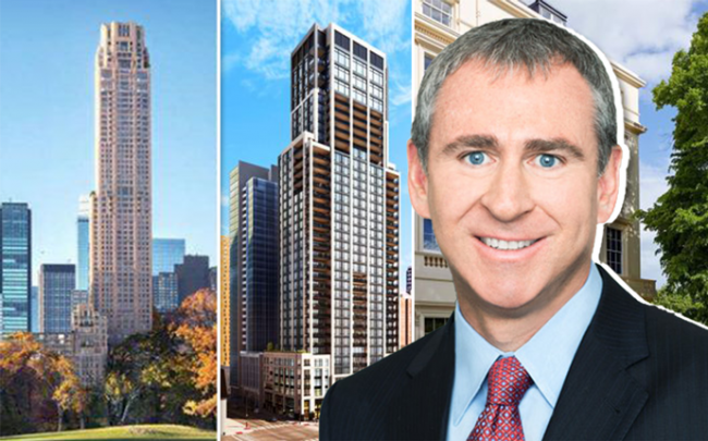 Collage of Ken Griffin's properties and Ken Griffin