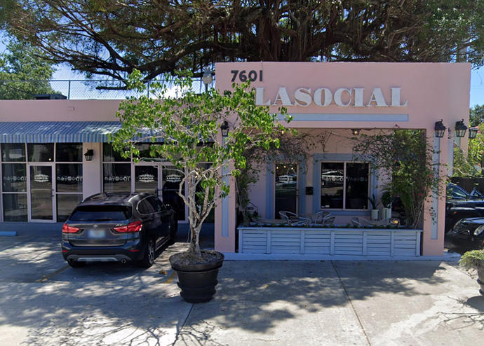 La Social's original location at 7601 Biscayne Boulevard (Credit: Google Maps)