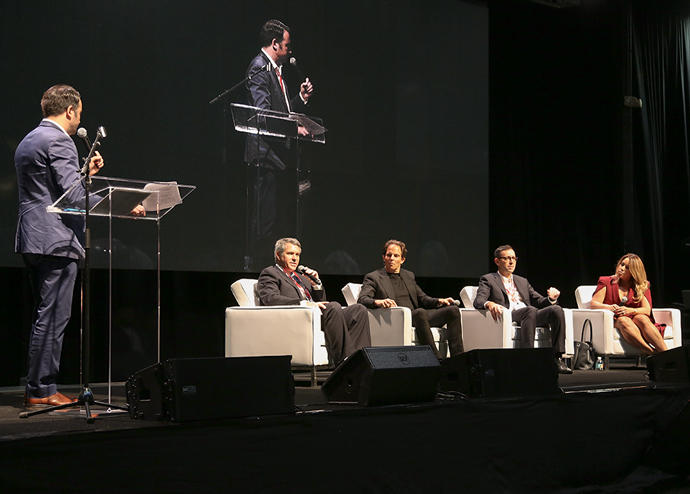 From left: Stuart Elliott, Jerome Hollo, Michael Shvo, Laurent Morali and Lissette Calderon
