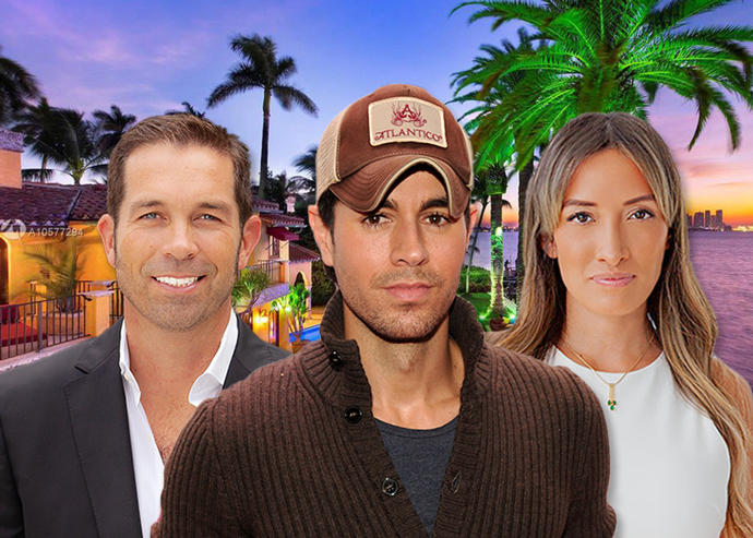 1771 North View Drive, Julian Johnston, Enrique Iglesias, and Caterine Gomez (Credit: Getty Images)