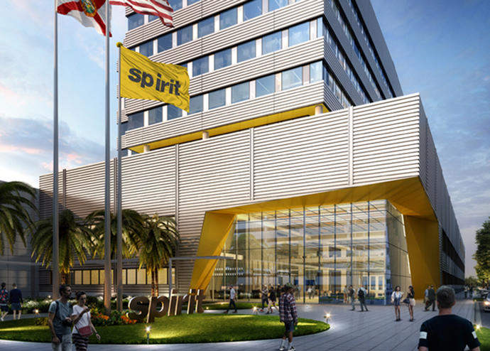 A rendering of the planned headquarters