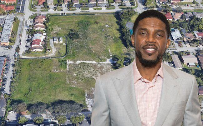former Rucks Park site in North Miami and Udonis Haslem (Credit: Google Maps and Getty Images)