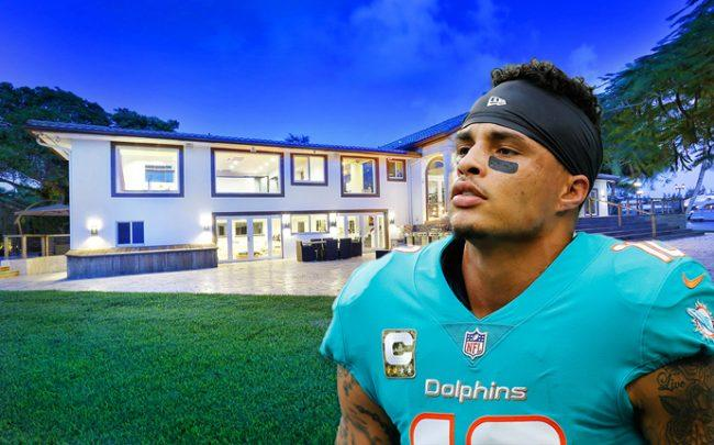 The Fort Lauderdale home and Kenny Stills (Credit: ONE Sotheby's International Realty and Getty Images)