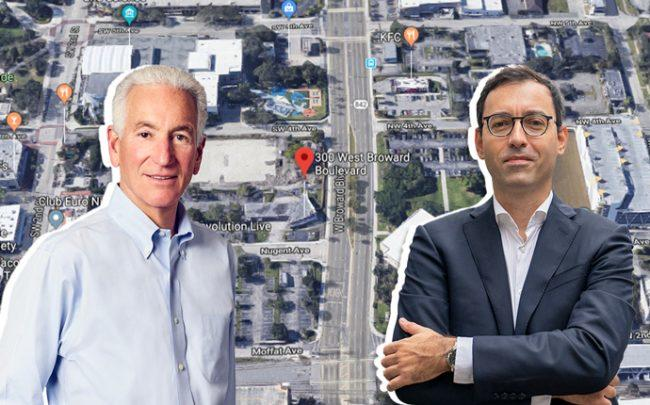 Charlie Kushner and Laurent Morali over Fort Lauderdale site (Credit: Google Maps)