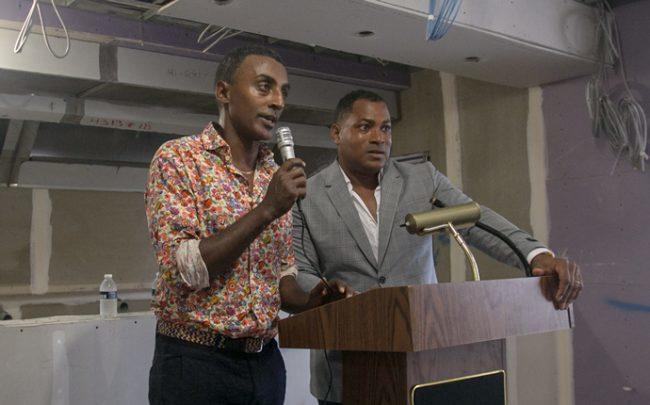 Marcus Samuelsson and his business partner Derek Fleming. (Credit: Korey Davis Photography)